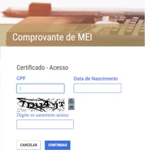 Certificado de Microempreendedor Individual - MEI